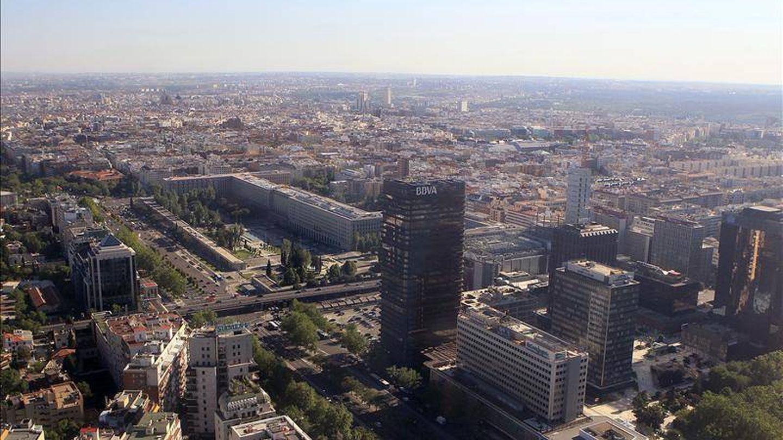 Panorámica del complejo de oficinas de Azca