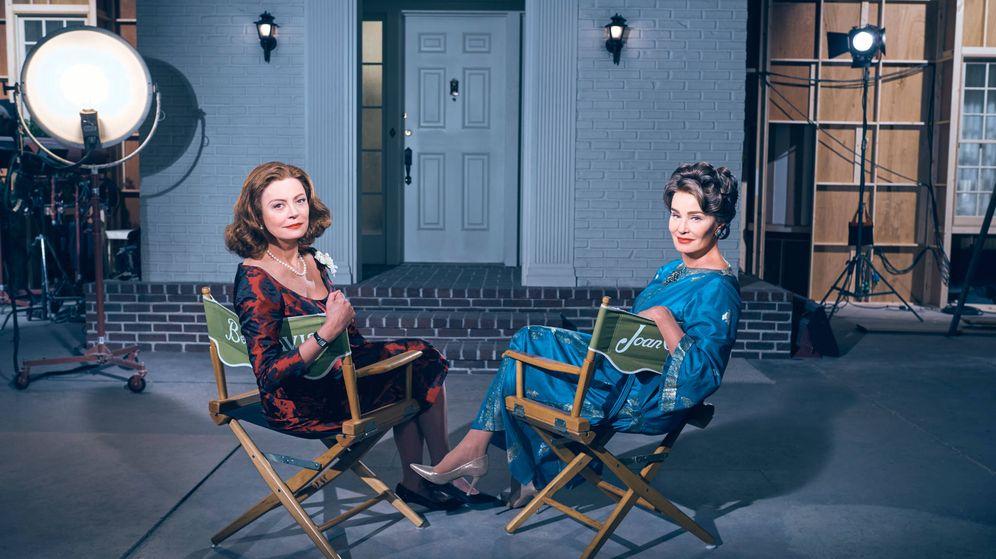 Foto: Susan Sarandon y Jessica Lange en una imagen promocional de 'Feud'.