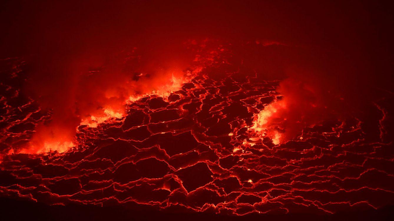 Nyiragongo, así es el lago de fuego perdido en África que alcanza los 1.000 ºC