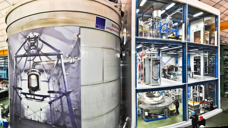 Interior labotario de Gran Sasso. Foto: XENON Collaboration/LNGS-INFN