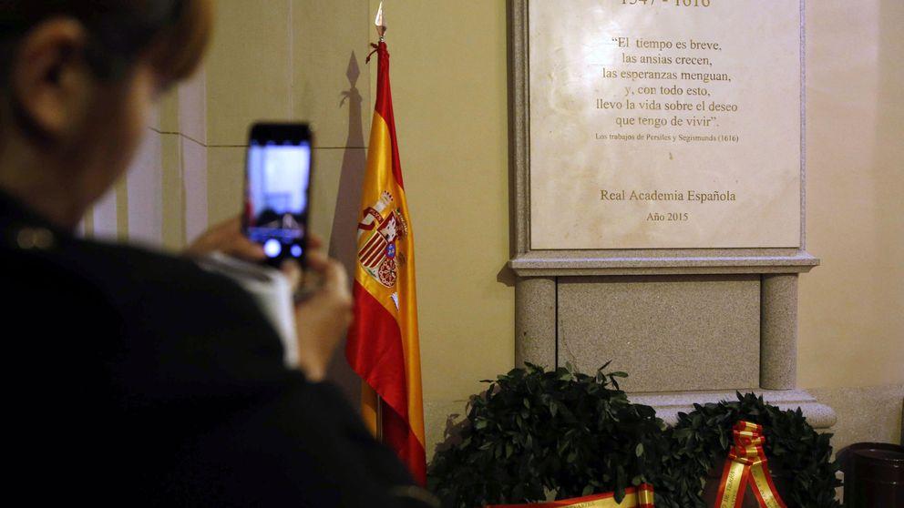 De visita a la tumba de Cervantes