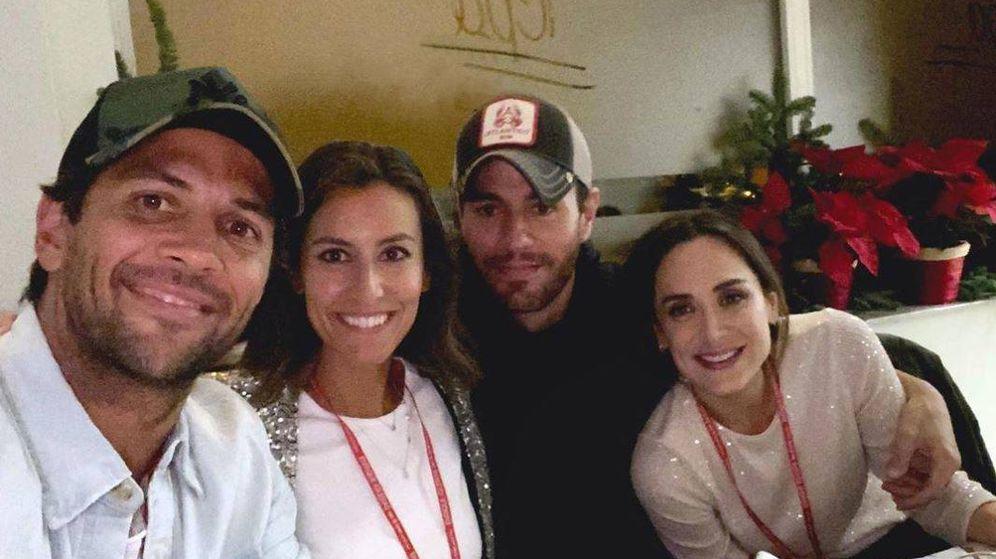 Foto: Verdasco, Ana Boyer, Enrique Iglesias y Tamara Falcó. (Instagram)