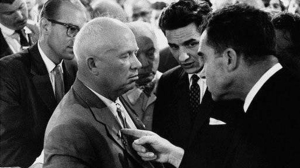 Foto: Nikita Kruschev y Richard Nixon