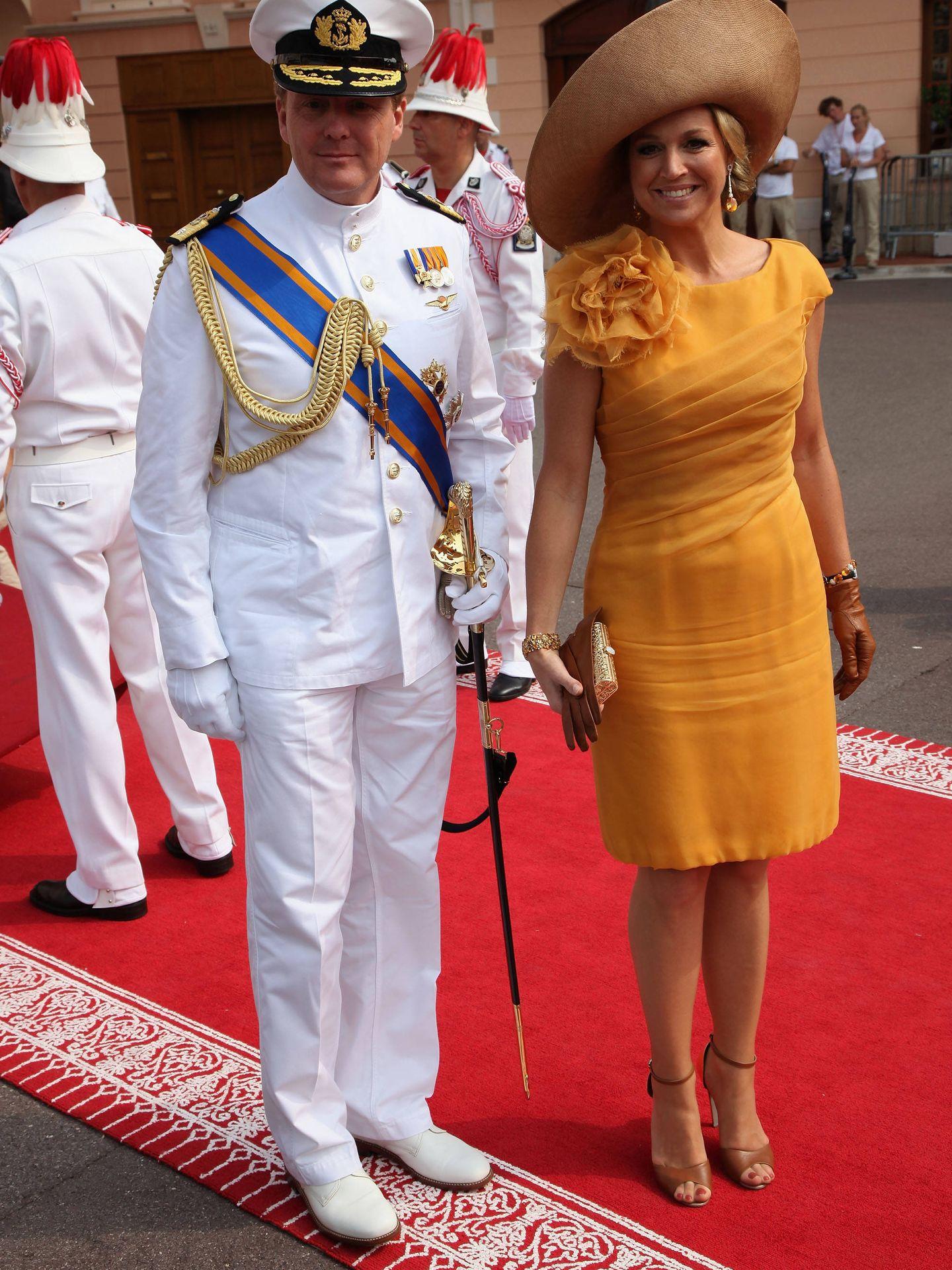 Los reyes de Holanda, en la boda de Alberto y Charlène de Mónaco. (Getty)