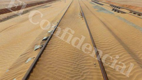 Twitter se 'mofa' de los tramos del AVE a La Meca casi sepultados por la arena