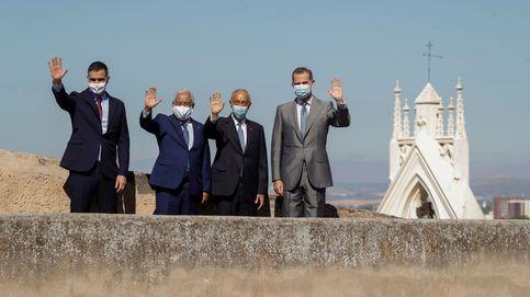 El Rey, Sánchez y sus homólogos lusos simbolizan la reapertura de las fronteras