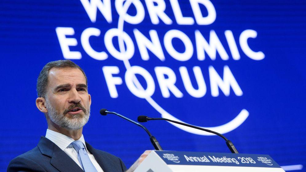 Foto: El rey Felipe VI participa en un panel de la 48 edición del Foro de Davos. (EFE)