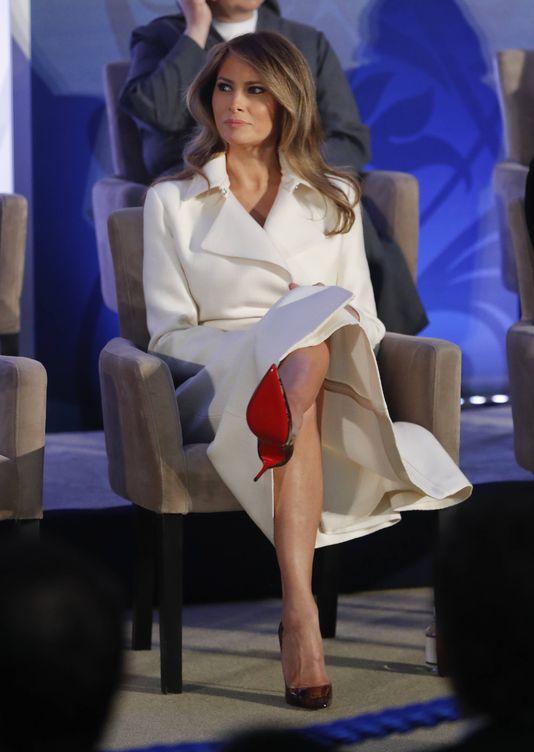 Foto: Melania Trump durante el acto. (Gtres)