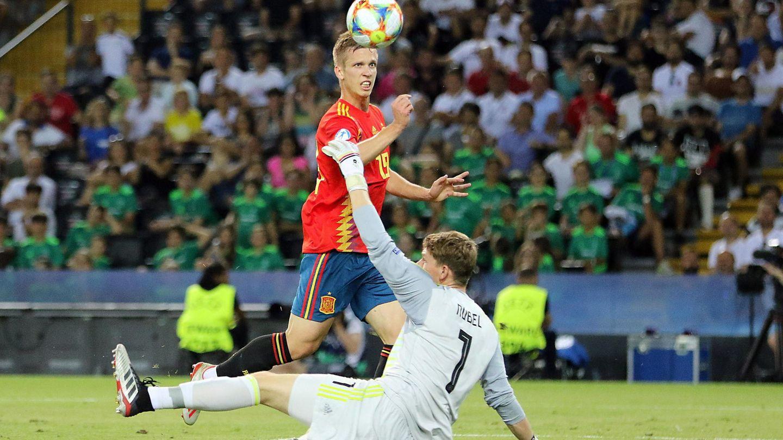 El gol de Olmo. (EFE)