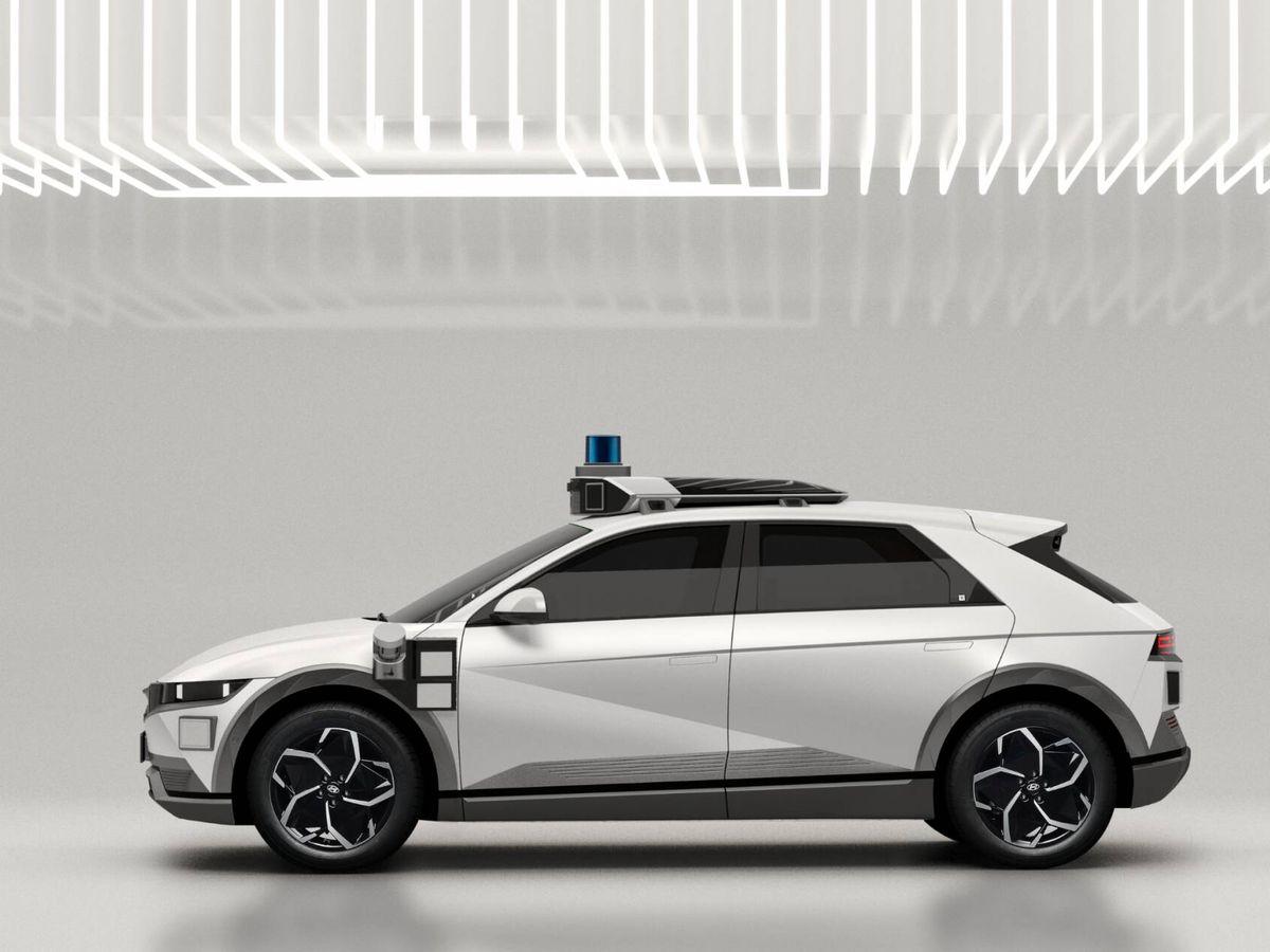 Foto: Los más de 30 sensores del Ioniq 5 'robotaxi' se traducen en conducción autónoma de Nivel 4, que ya prescinde de conductor.