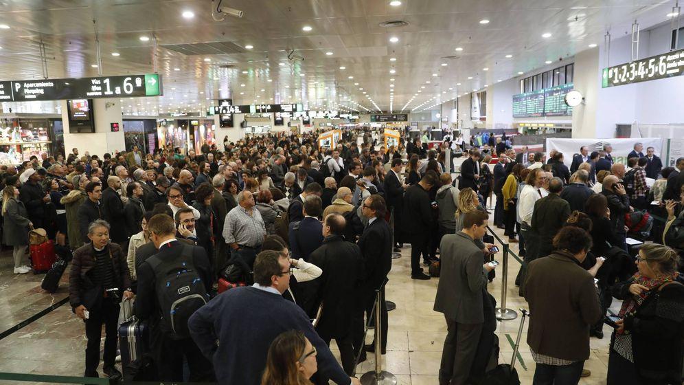 Foto: Estación de Sants este miércoles. (EFE)