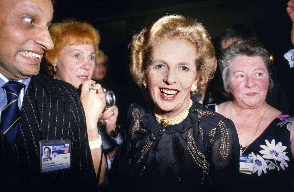 Foto: Margaret Thatcher en 1985, fotografía de Chris Steele-Perkins (EFE)