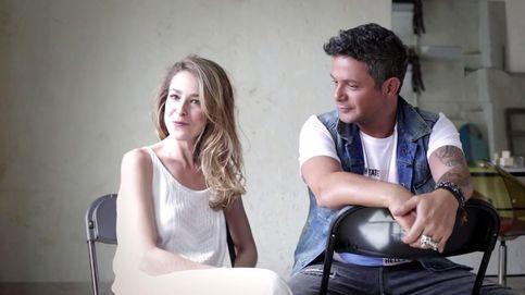 Silvia Abascal y Alejandro Sanz en el making of de 'A que no me dejas'