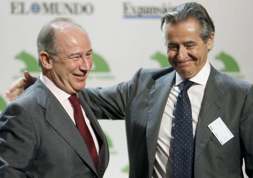 Foto: Rodrigo Rato y Miguel Blesa, en una imagen de archivo. Ambos están imputados en el caso Bankia (EFE)