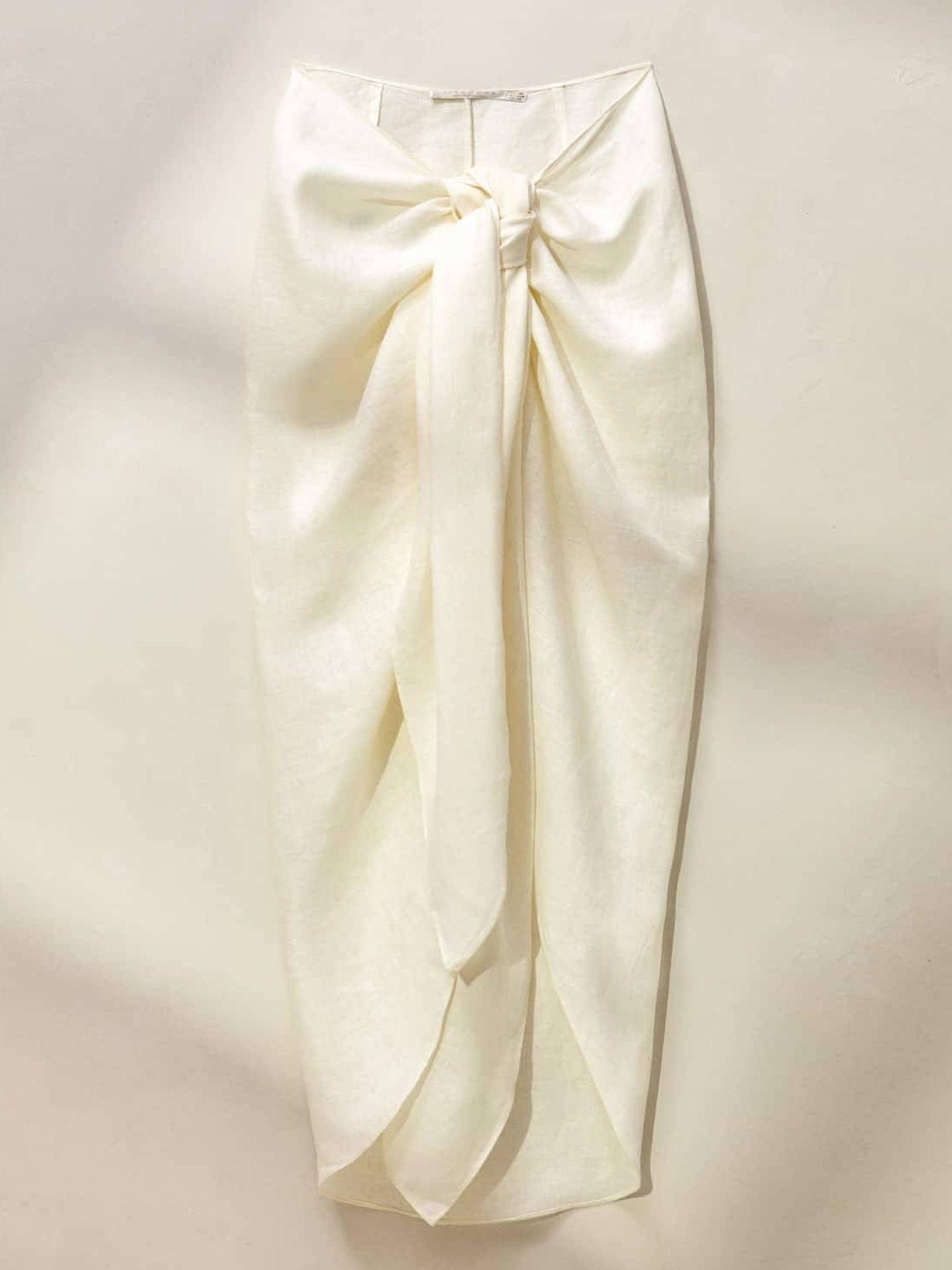 La falda pareo de Zara Home. (Cortesía)