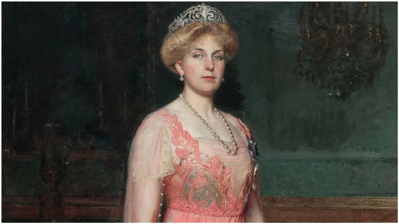 Retrato de Victoria Eugenia de Battenberg de José Moreno Carbonero en 1912. (Museo Nacional de Arte de Cataluña)