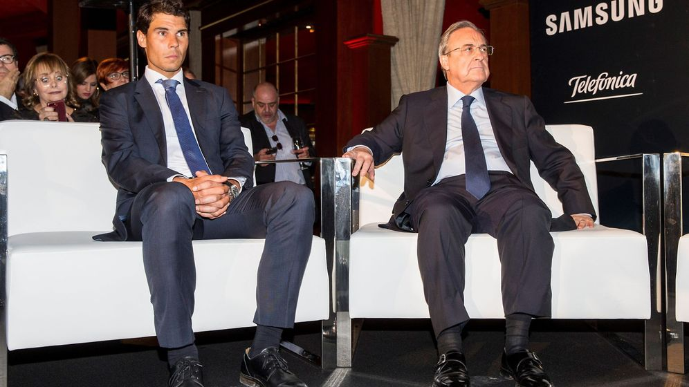 Foto: Rafa Nadal y Florentino Pérez, madridistas y amigos. (EFE)