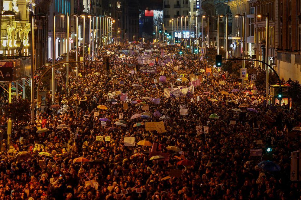 Foto: Marcha feminista por el Día Internacional de la Mujer, el 8 de marzo de 2018, en Madrid. (Reuters)