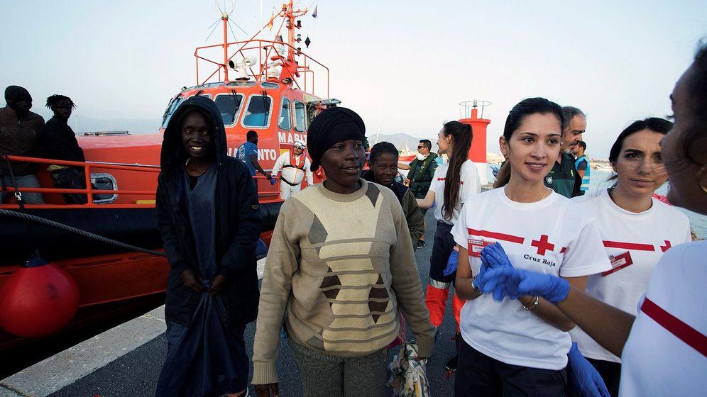 Foto: Rescate de migrantes por salvamento marítimo