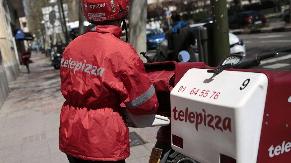 Foto: Motorista de Telepizza (Efe)