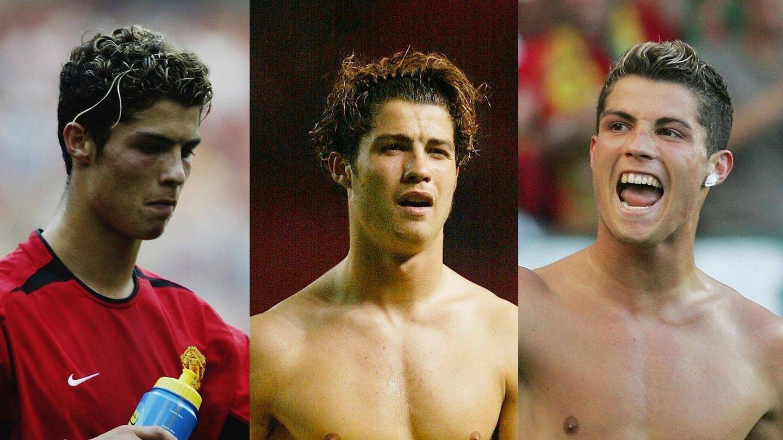 Evolución capilar de Cristiano Ronaldo en el Manchester. (Getty)
