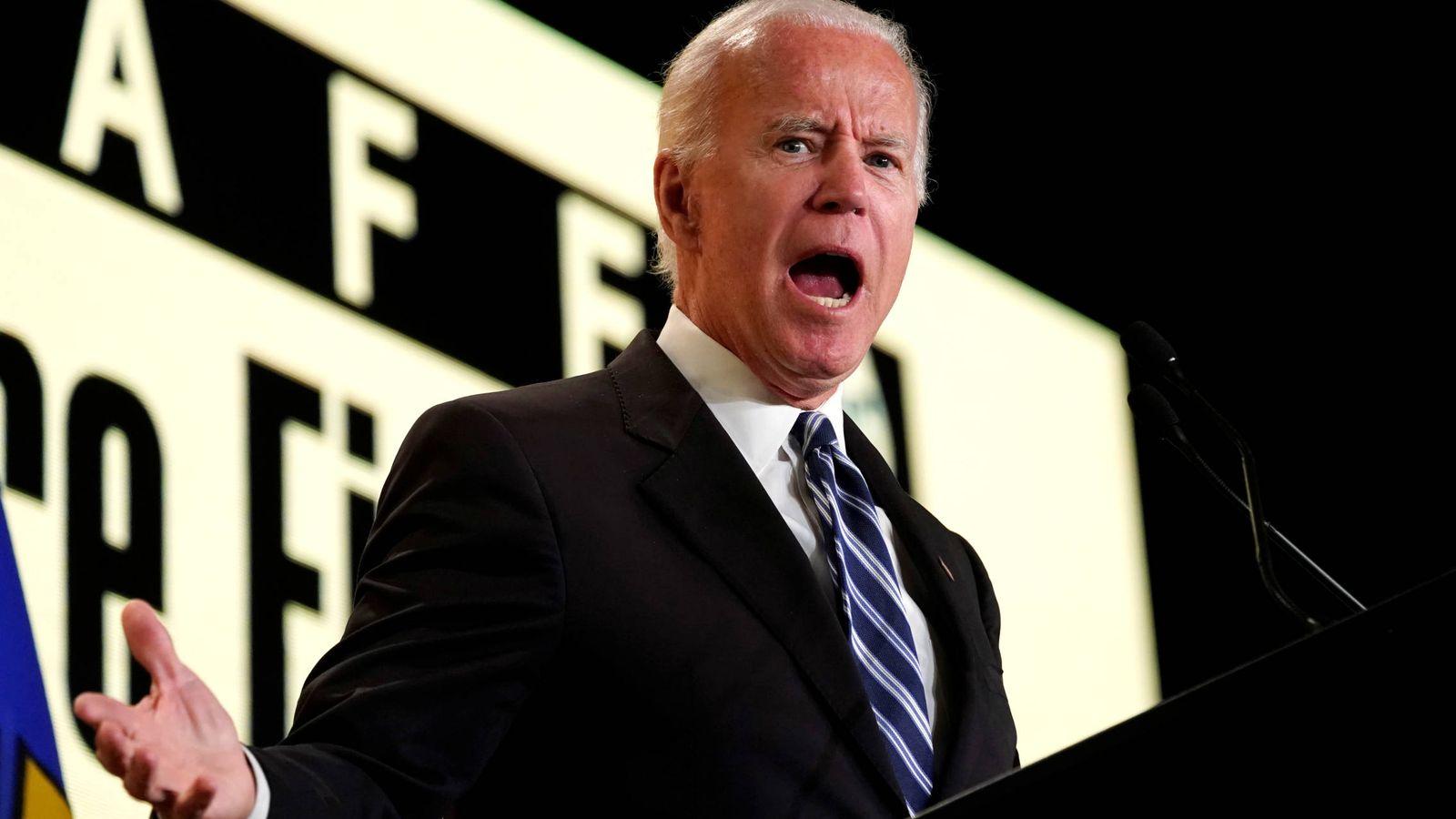 Foto: Joe Biden durante un discurso ante la Asociación Internacional de Bomberos, en Washington. (Reuters)