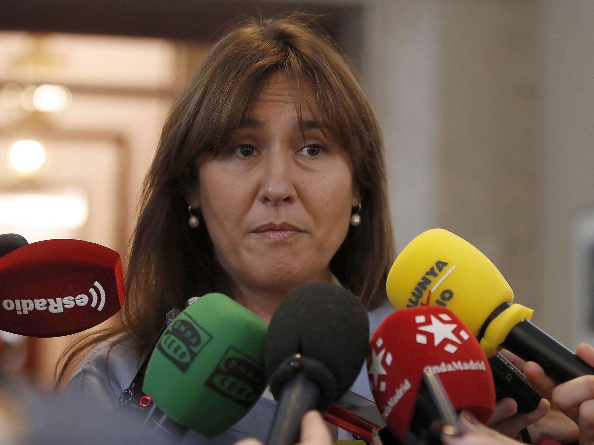 Foto: Imagen de archivo de la diputada y portavoz de Junts Per Catalunya, Laura Borrás, en el Congreso. (EFE)