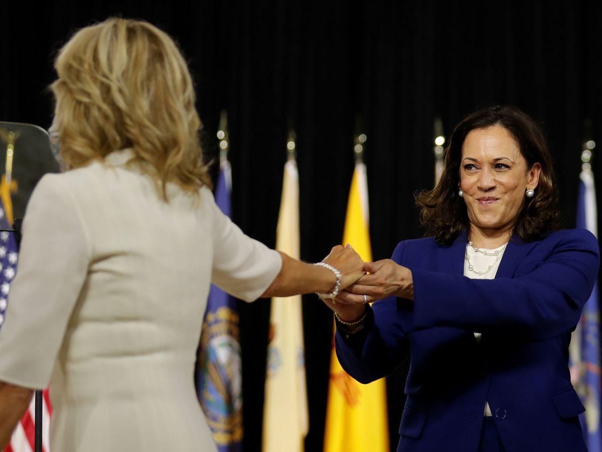 Foto: Kamala Harris y Jill Biden. (Reuters)