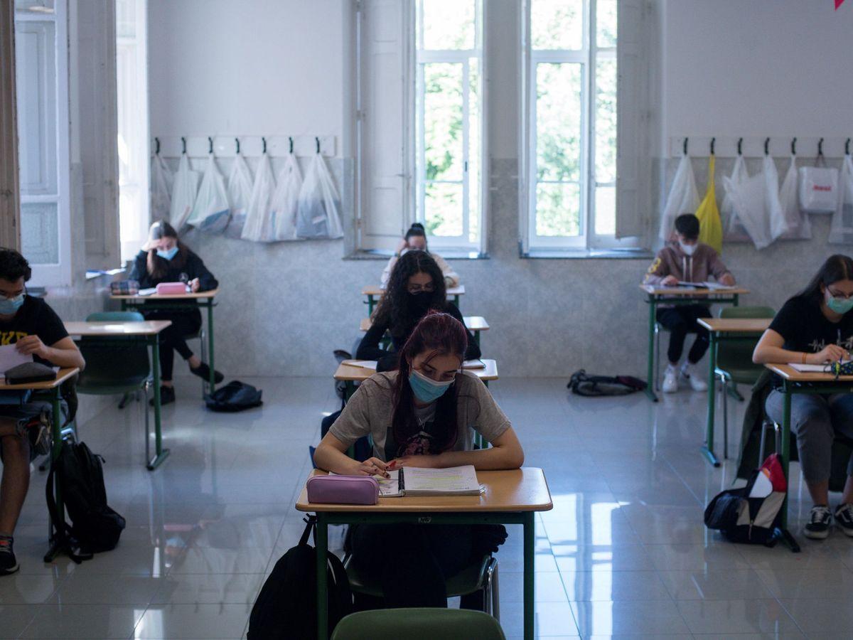 Foto: Alumnos se preparan para la evau