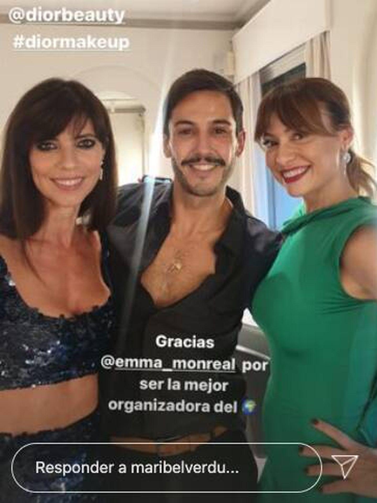 Maribel Verdú, Gabriel Llano y Natalia Verbeke. (Instagram)