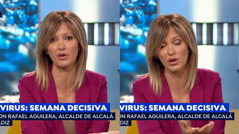Detalle del maquillaje de ojos de Susanna Griso. (Atresmedia)