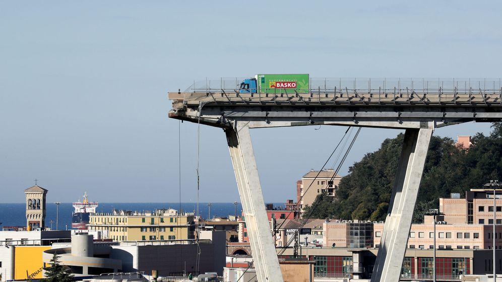 Foto: El puente de Morandi. (Reuters)