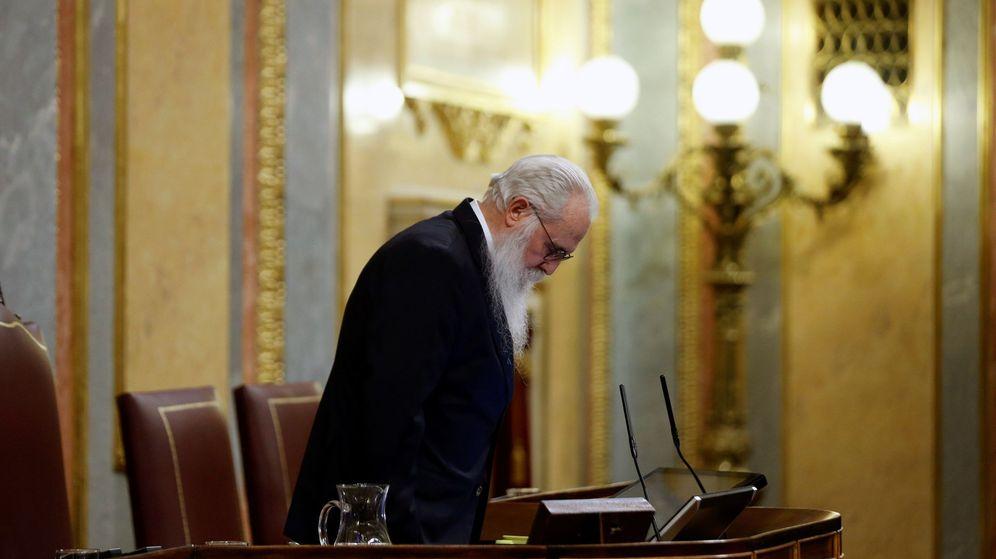 Foto: El presidente de la Mesa de Edad, Agustín Javier Zamarrón. (EFE)