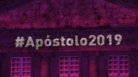 Espectacular pirotecnia para las fiestas del Apostol en Santiago de Compostela