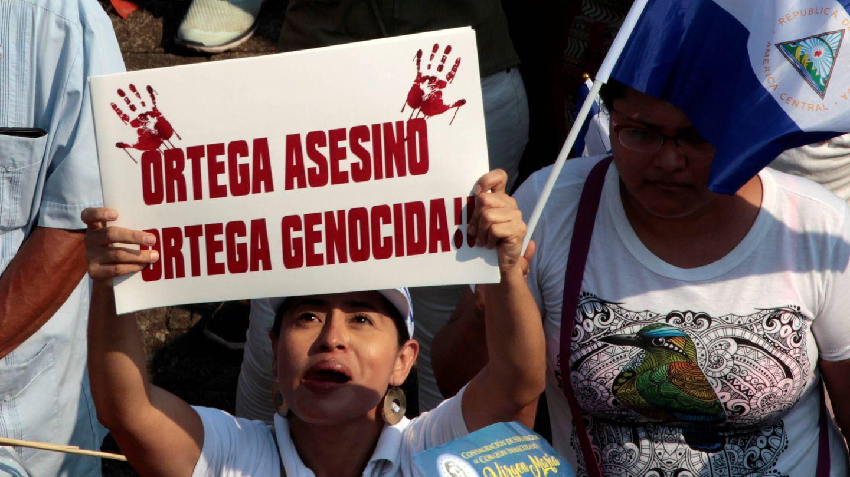 Manifestantes en contra de la Administración de Daniel Ortega. (Reuters)