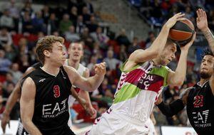 El Baskonia se mete en la lucha por el playoff tras ganar al Milán