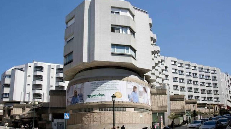 Fachada del hospital Povisa.