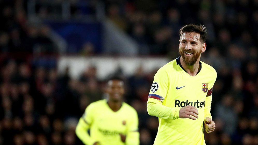 Foto: Messi celebra un gol con el FC Barcelona. (EFE)