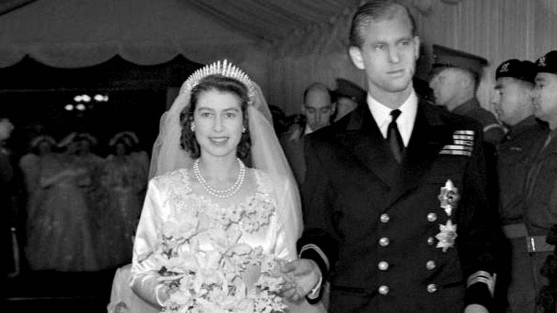 La boda de la reina Isabel con el duque de Edimburgo. (EFE)