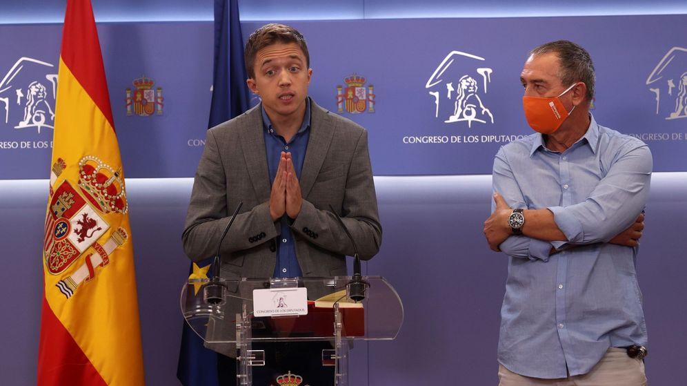 Foto: Íñigo Errejón y Joan Baldoví, en rueda de prensa. (EFE)