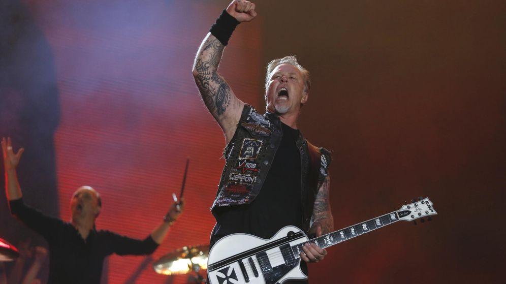 Foto: James Hetfield, de Metallica, durante un concierto. (Reuters)