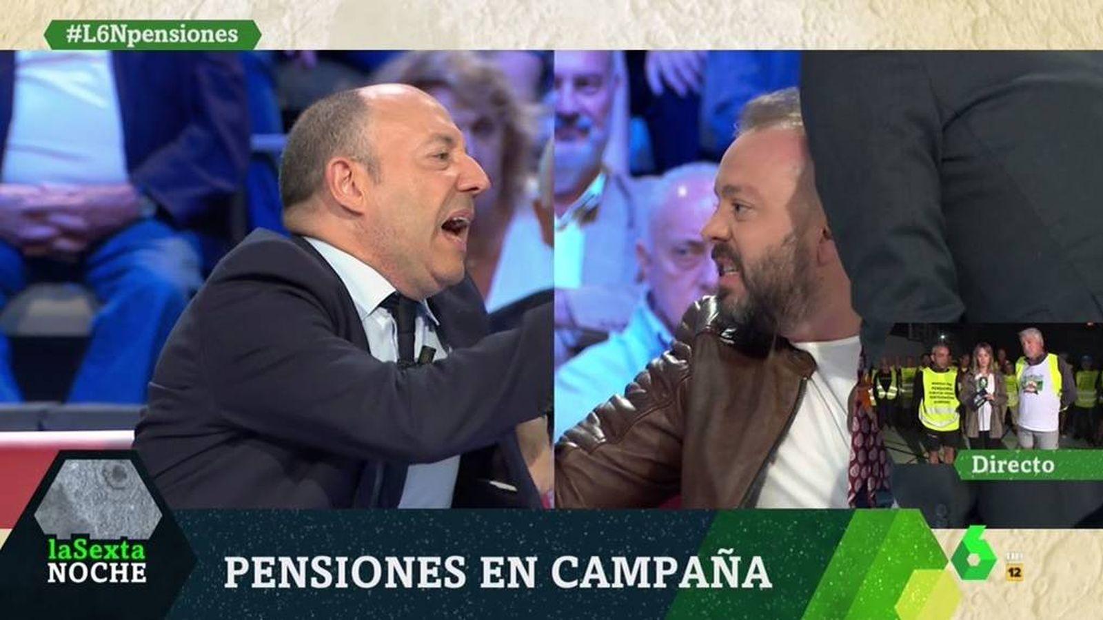 Foto: Gonzalo Bernardos y Antonio Maestre, en 'La Sexta noche'. (Atresmedia).