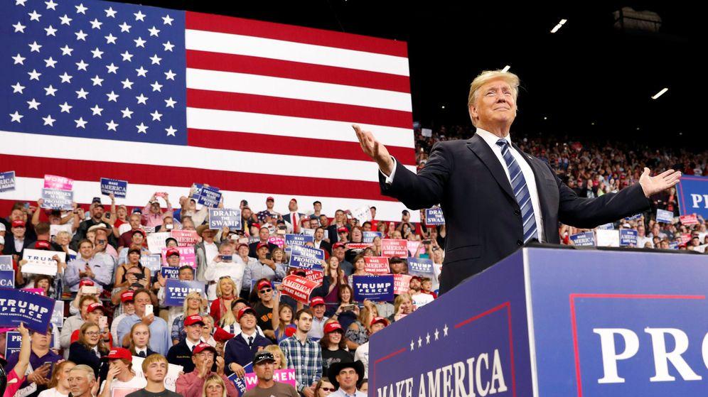 Foto: El presidente Donald Trump saluda a sus partidarios durante un encuentro en Billings, Montana, el 6 de septiembre de 2018. (Reuters)