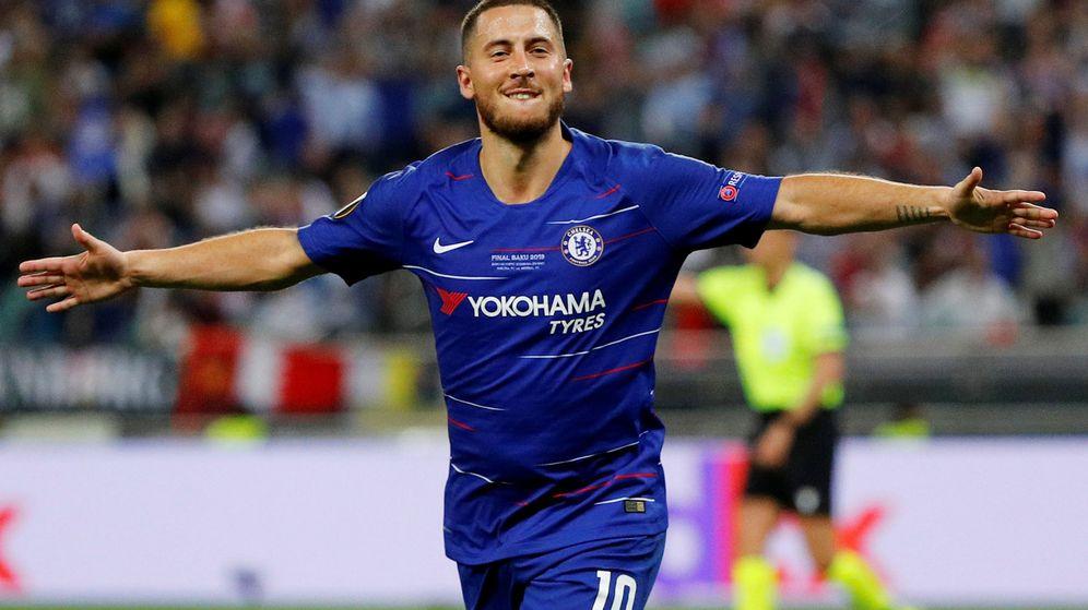 Foto: El último partido de Hazard con el Chelsea fue la final de la Europa League ganada el Arsenal. (Reuters)
