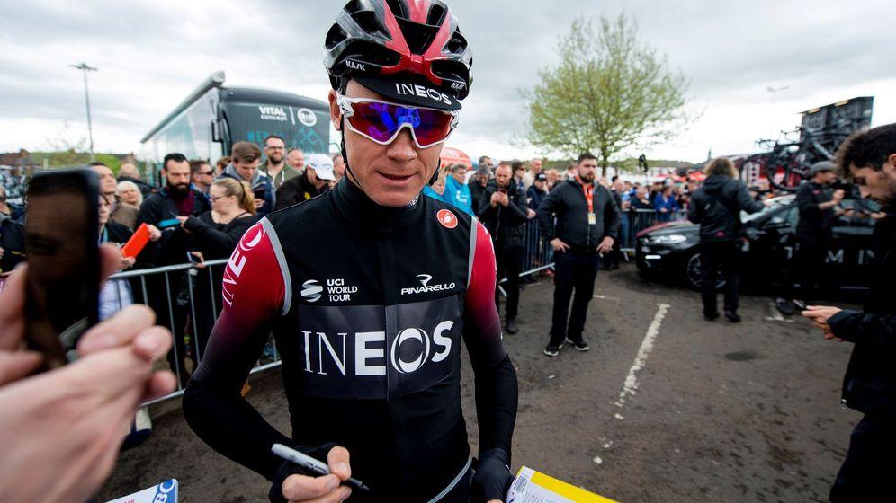 Foto: Chris Froome con el maillot del Team Ineos, antiguo Sky. (EFE)