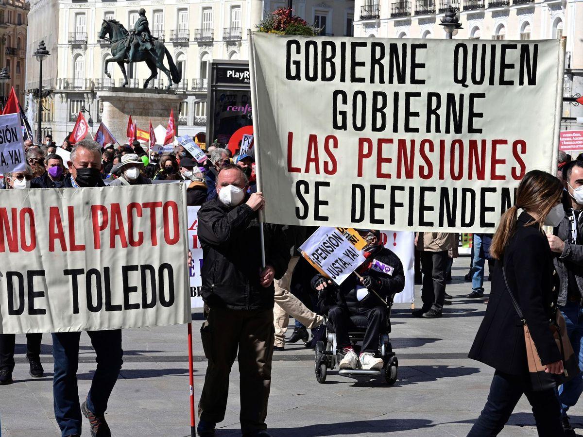 Foto: Manifestación en defensa de las pensiones