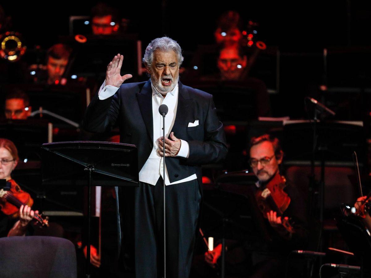 Foto: Plácido Domingo durante una actuación en Moscú. (Reuters)