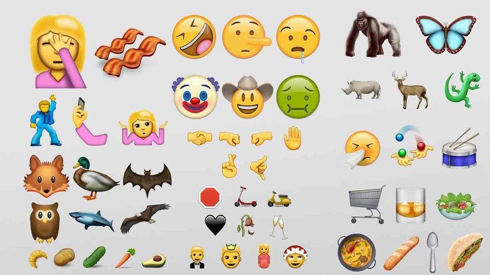 Foto: Algunos de los 72 nuevos emoticonos que WhatsApp ofrecerá a partir del 21 de junio (Emojipedia)