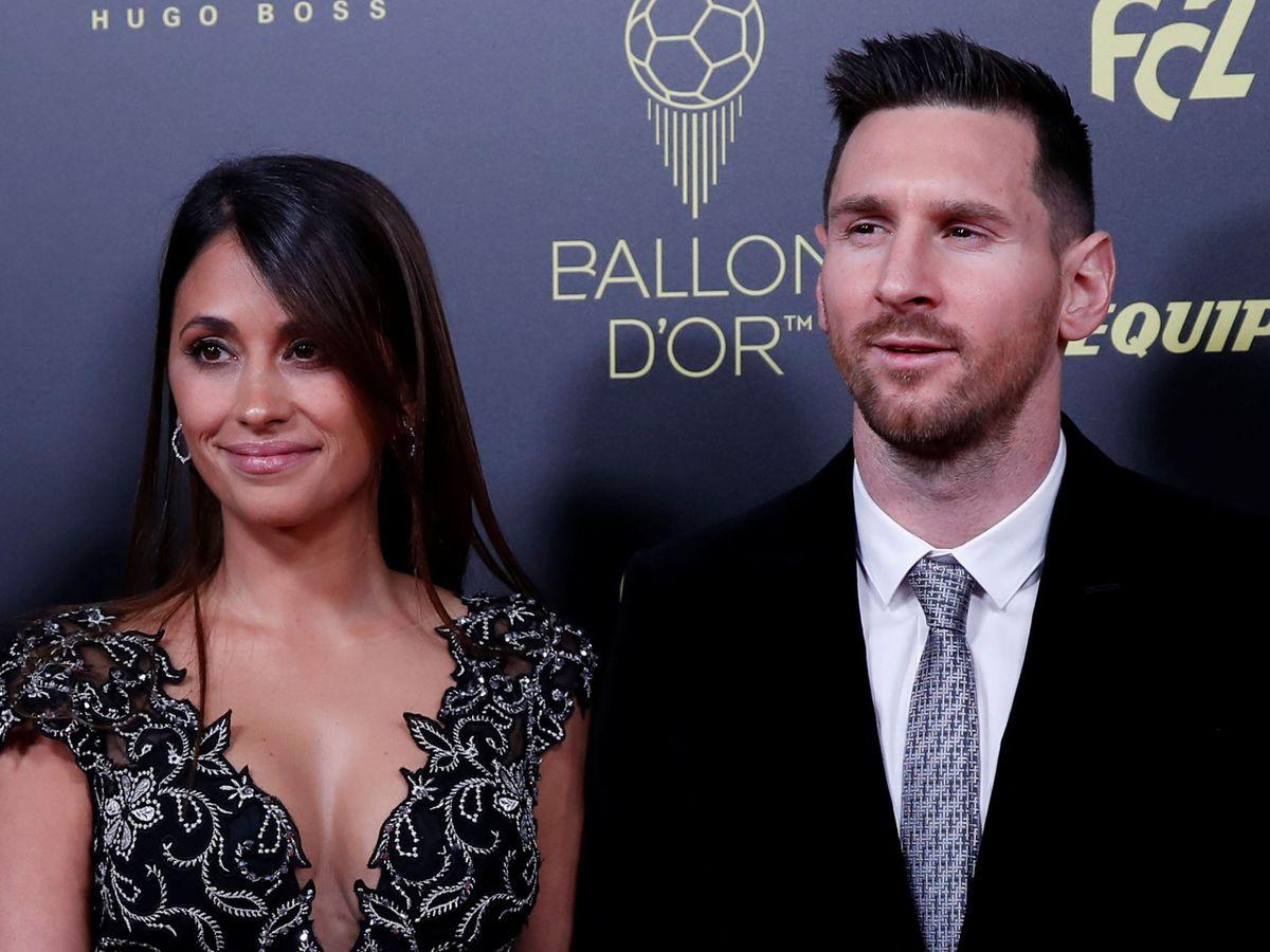 Foto: Antonela Roccuzzo y Leo Messi. (Reuters)