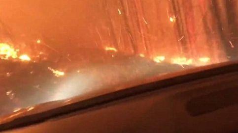 Así escaparon (y grabaron en vídeo) un padre y un hijo de un terrible incendio